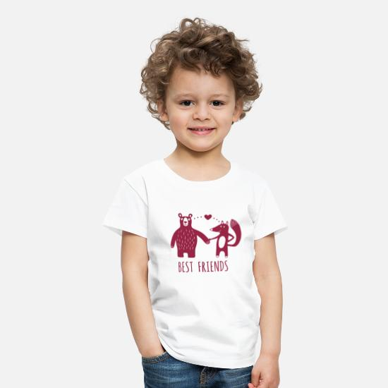 Bestseller Q4 2018 T-Shirts - Best Friends - Kinder Premium T-Shirt Weiß