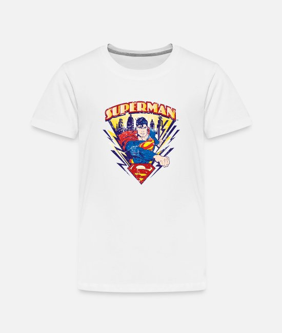 Super Hero T-shirts - Superman Metropolis Teenager's T-Shirt - Kinderen premium T-shirt wit