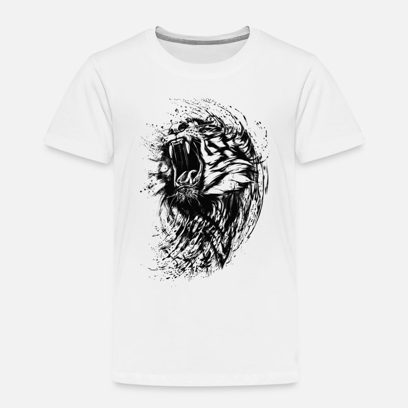 Collections T-Shirts - Tiger - Paint - Kinder Premium T-Shirt Weiß