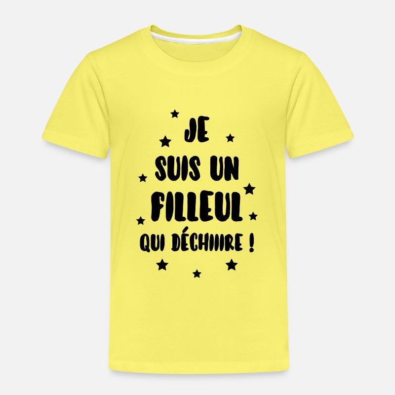 2 couleurs au choix T-shirt Enfant J/'ai un Parrain qui déchire Baptême