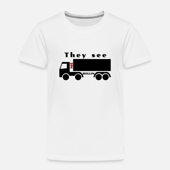 Bus T-Shirts - Transport truck - Kids' Premium T-Shirt white