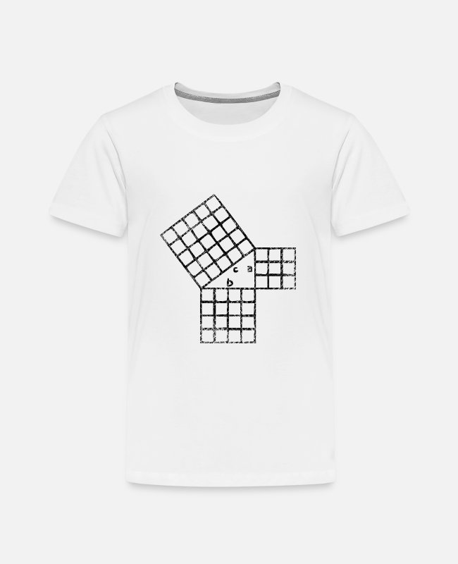 Design T-Shirts - Pythagorean theorem - Kids' Premium T-Shirt white
