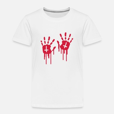 Hand Retreating Bloody Handprints - Kids' Premium T-Shirt
