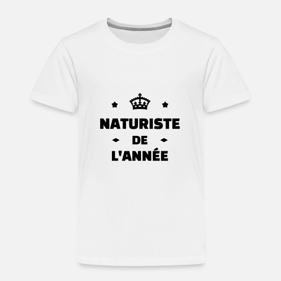 naturisme naturist nudist nakenhet Tenårings premium T