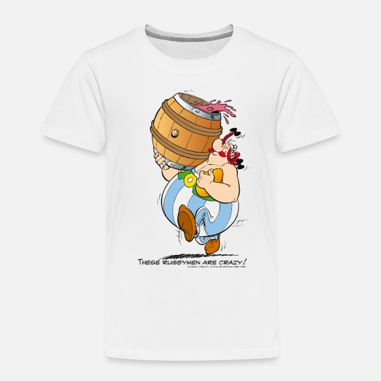 Funny T-Shirts - Asterix & Obelix - These Rugbymen - Kids' Premium T-Shirt white