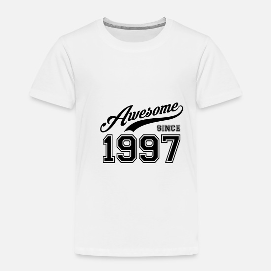 College T-shirts - Awesome sedan 1997 födelsedag födelseår - Premium T-shirt barn vit