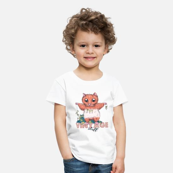 Vintage Collection V2 T-Shirts - Vintage hamster - Kids' Premium T-Shirt white