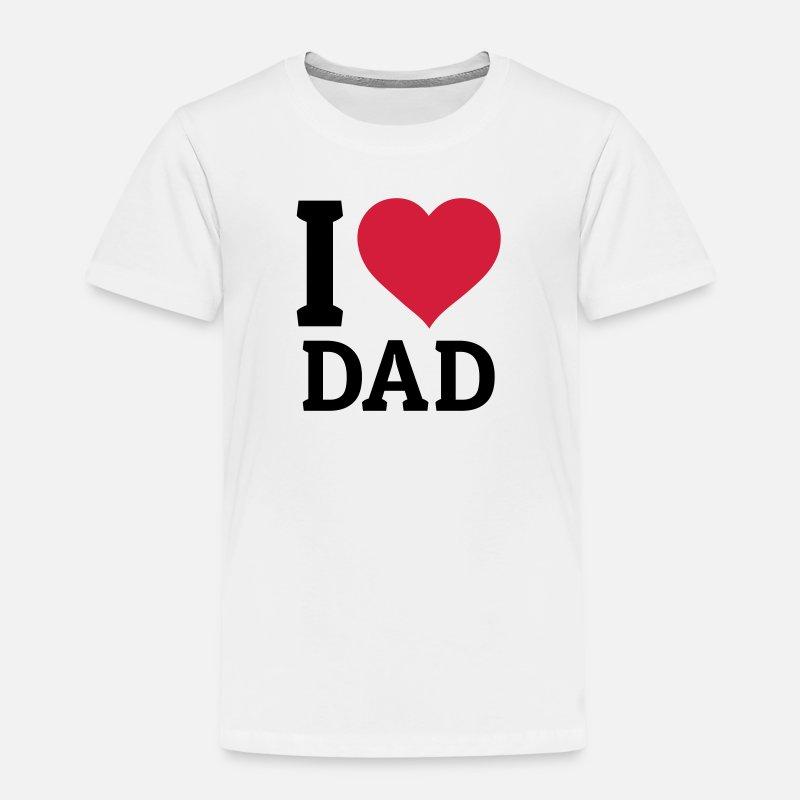 I love Dad jag älskar pappa Premium T shirt barn vit