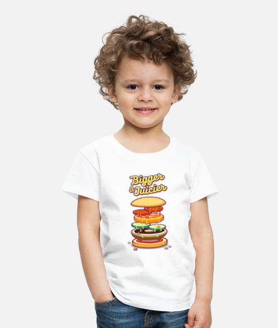 Pizza T-Shirts - Bigger & Juicier - Kids' Premium T-Shirt white