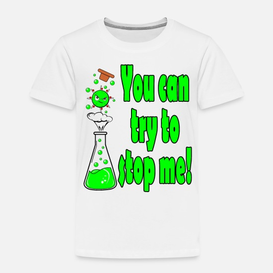 Chemistry T-Shirts - atom chemistry chemist saying gift lab neutron - Kids' Premium T-Shirt white