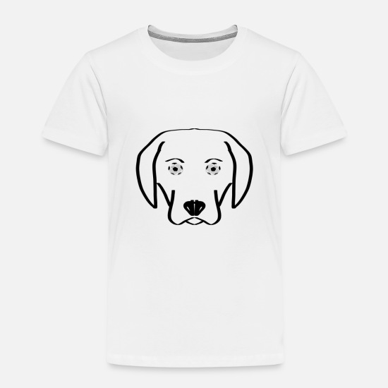 Soccer T-shirts - Hond wil voetbal - Kinderen premium T-shirt wit