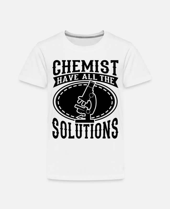 Professor T-Shirts - Chemistry School Uni - Kids' Premium T-Shirt white