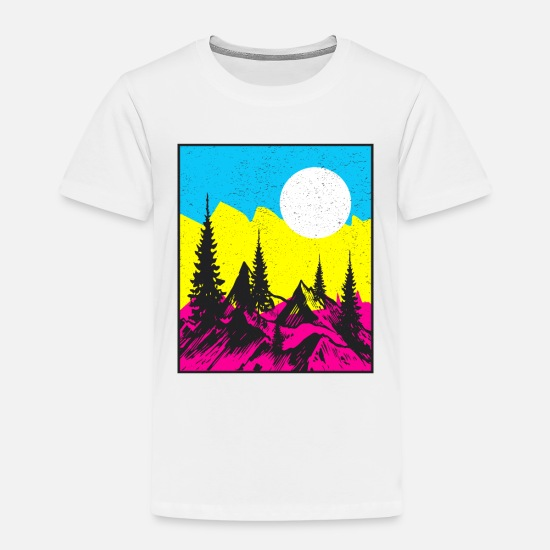 Camping T-Shirts - Landscape Color - Kids' Premium T-Shirt white