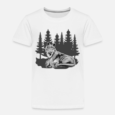 Wolfskind Wolfskind Wolf Wolf pack Wolf mother forest shirt - Kids' Premium T-Shirt