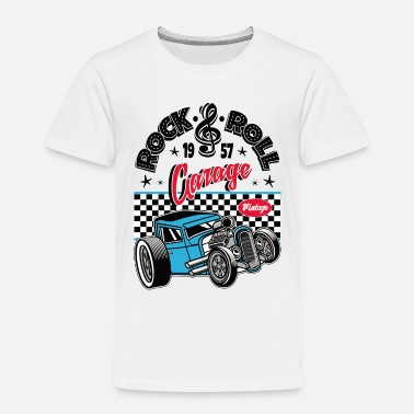 Rockabilly Rockabilly Vintage Car Rocker Rock N Roll - Premium T-shirt til børn