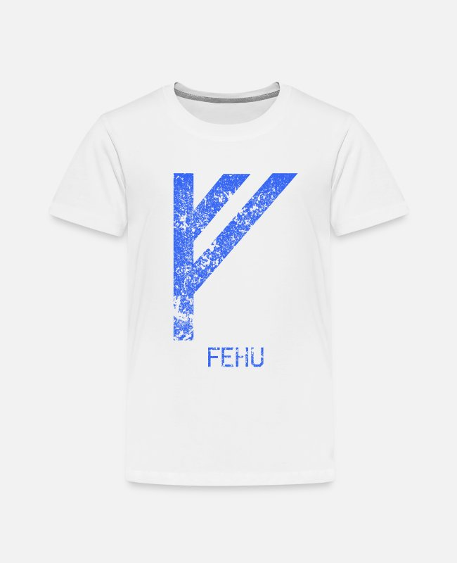 Viking T-Shirts - Fehu Futhark Vikings Norse mythology runes - Kids' Premium T-Shirt white