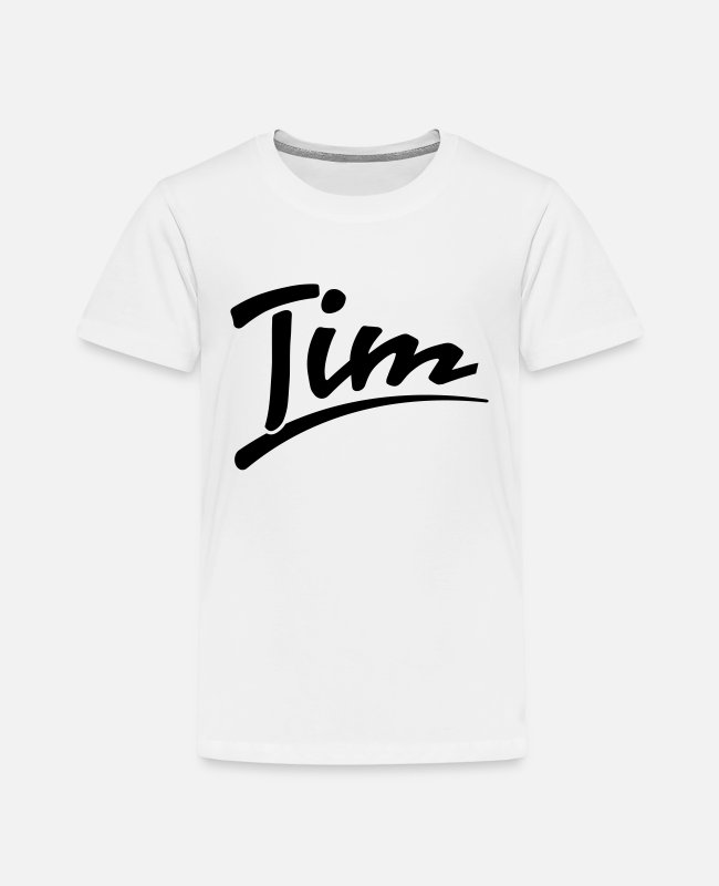 Beliebt T-Shirts - Tim - Kinder Premium T-Shirt Weiß