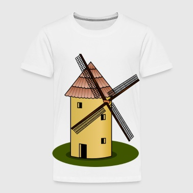 windmolen wind Muehle windturbine windrad28 - Kinderen Premium T-shirt