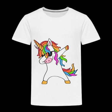 Dabbing Unicorn - Awesome design - Kinder Premium T-Shirt