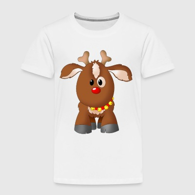 Drawing Rudi the reindeer - Kids' Premium T-Shirt