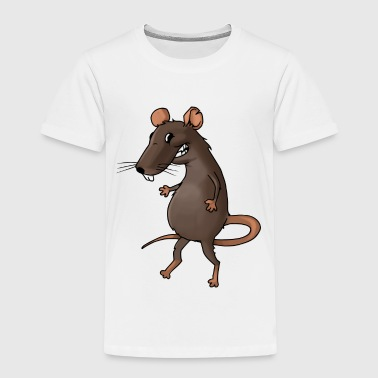 Fiese Ratte Nager Maus Ungeziefer Nagetier - Kinder Premium T-Shirt