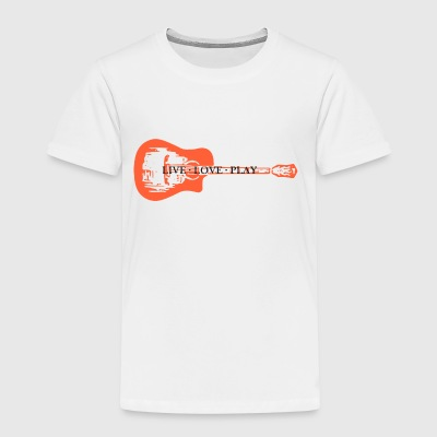 guitar live love play - Kids' Premium T-Shirt