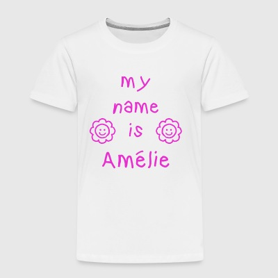 AMELIE MY NAME IS - Premium T-skjorte for barn