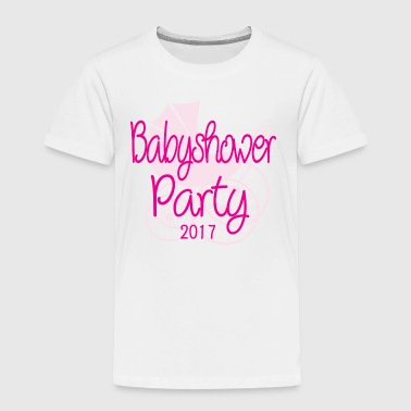 Baby Shower Party 2017 Rose - Kids' Premium T-Shirt