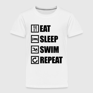 EAT SLEEP SWIM REPEAT - Kids' Premium T-Shirt