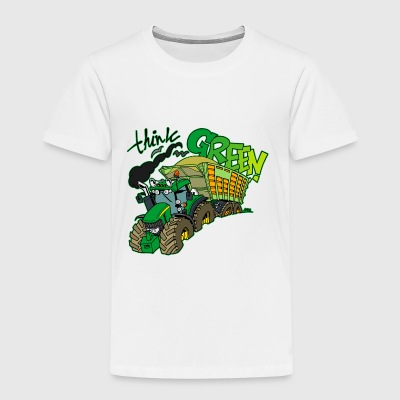 Think green border - Kids' Premium T-Shirt