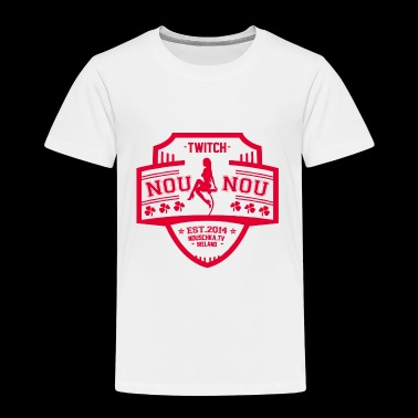 Nouschkasplay Team logo Twitch Pink_01 - Kinderen Premium T-shirt