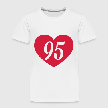 95th birthday heart Long Sleeve Shirts - Kids' Premium T-Shirt
