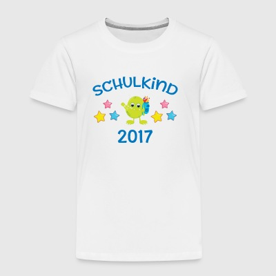 Schulkind 2017 - Monster - Kinder Premium T-Shirt