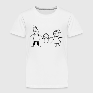 happy family (b) - Premium T-skjorte for barn
