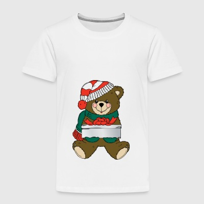 Teddy with gift - Kids' Premium T-Shirt