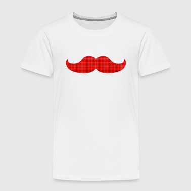 plaid de tartan de moustache - T-shirt Premium Enfant