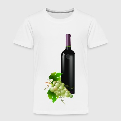 wein wine flasche glas bottle barrels glasses97 - Kinder Premium T-Shirt