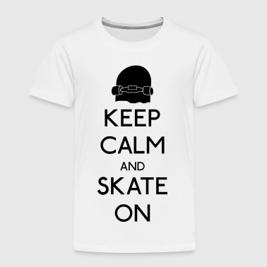 Keep Calm and skate on - Kids' Premium T-Shirt