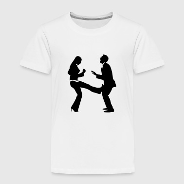 A woman strikes a manager in the balls - Kids' Premium T-Shirt
