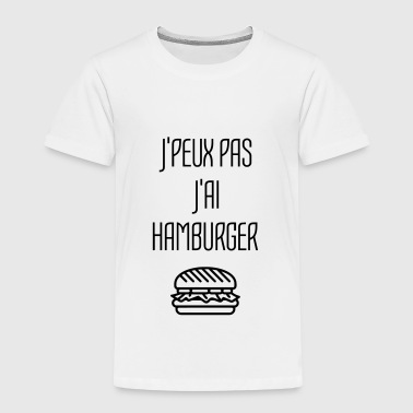 Hamburger Fast Food Burger Pizza Frites Gras - T-shirt Premium Enfant