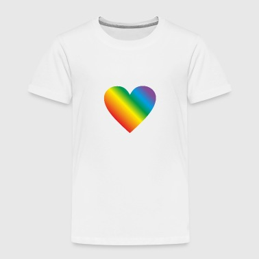 Lgbt rainbow heart, gay heart - Premium T-skjorte for barn