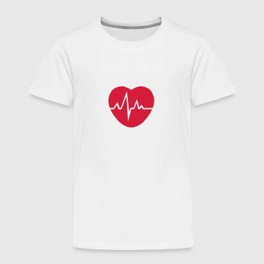 Heart cardiac trace 1503 - Kids' Premium T-Shirt