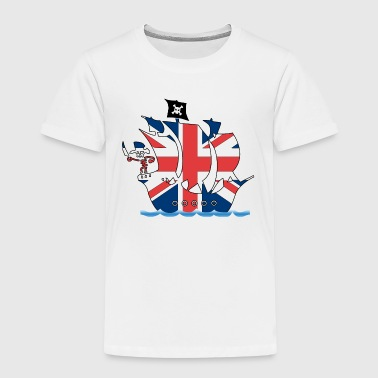 Pirate ship uk united kingdom flag - Kids' Premium T-Shirt