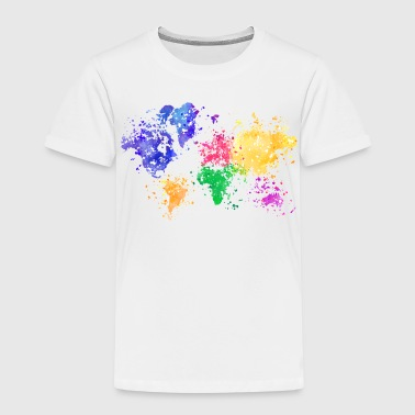 Wanderlust Map - Kinder Premium T-Shirt