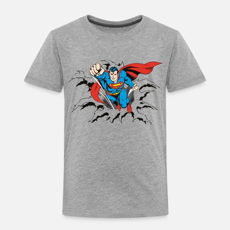 Officialbrands T-Shirts - DC Comics Originals Superman Flying - Kinderen premium T-shirt grijs gemêleerd