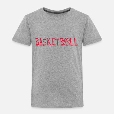 Basketball Logo basketball word sport logo 3105 - Kids' Premium T-Shirt