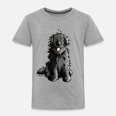 Newfie Newfoundland - Dog - Dogs - Newfi - Newf - Cartoon - Kids' Premium T-Shirt