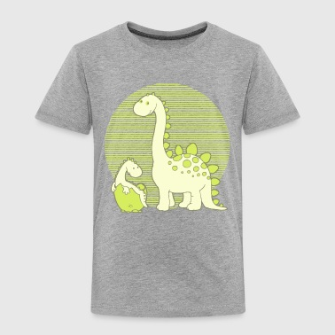 Dinosaur Mom with Hatching Egg - Kids' Premium T-Shirt