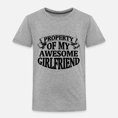 Property Of My Girlfriend PROPERTY OF MY HORNY GIRLFRIEND! - Kids' Premium T-Shirt