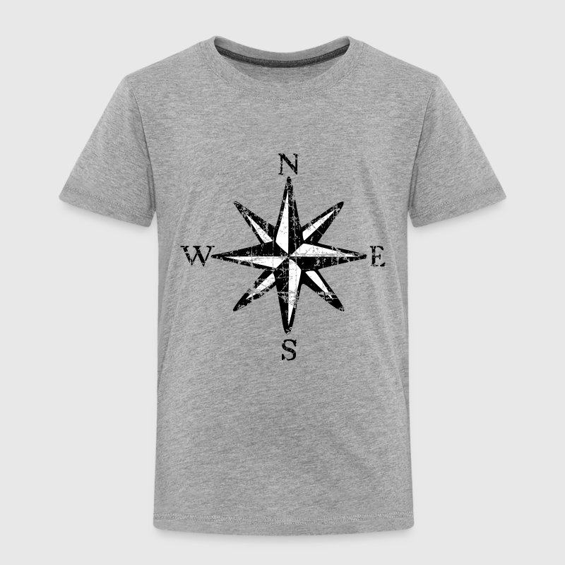 Compass Rose NESW Vintage Sailing Design (EU) - Kids' Premium T-Shirt